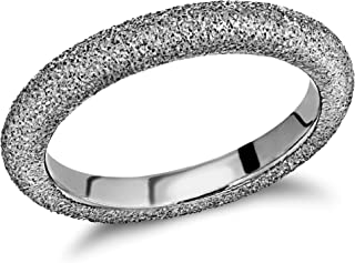 Tuscany Silver Women's Sterling Silver Frosted Band Ring