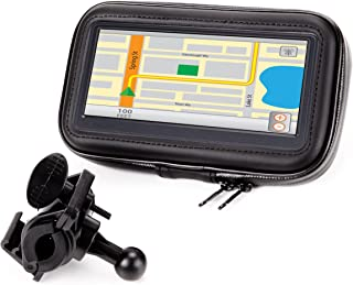 Motorcycle GPS Mount Bike Handlebar Waterproof Touch Case w/ 360 Degree Viewing (Fits 4.5-6.75 Inch Units) for Garmin nüvi 42LM / 40LM / Zumo 660LM, Magellan eXplorist, Tomtom Rider & Phones