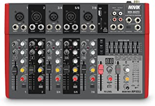 NOVIK NEO MIXER NVK 802FX 8 Channel Ultra-Slim 5 channels with pre-amplifiers of Mic and Phantom Power (+48v) 3 channels Stereo
