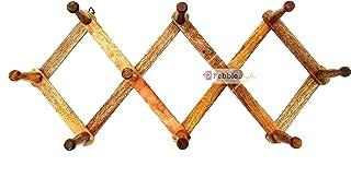 PEBBLE CRAFTS Wooden Adjustable Wall Mount peg Hanger