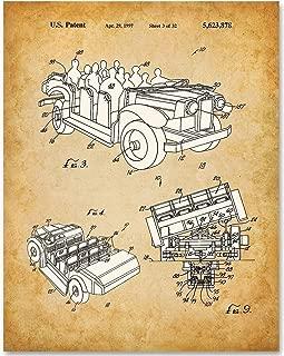 Disneyland Indiana Jones Adventure Car - 11x14 Unframed Patent Print - Makes a Great Gift Under $15 for Disney Fans