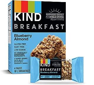 KIND Breakfast Bars, Blueberry Almond, Gluten Free, 1.8 Ounce, 32 Count