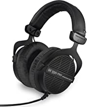 beyerdynamic Dt 990 Pro Over-Ear Studio Monitor Headphones - Open-Back Stereo Construction, Wired (80 Ohm, Black (Limited Edition))