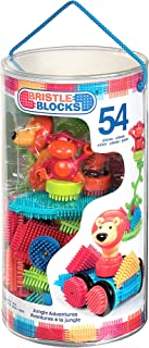 Bristle Blocks by Battat – The Official Bristle Blocks – 54Piece Jungle Adventures In A Tube – STEM Toys 3D Sensory Toy Blocks for Kids – Bpa Free – Building Toys for Creativity & Dexterity – 2 Yr
