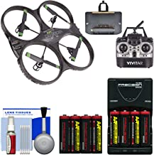 Vivitar DRC-333 Air Defender X Wi-Fi Streaming HD Video Camera Drone with 8 Batteries & Charger + Kit