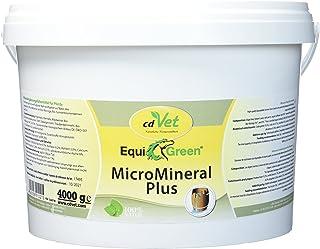 cdVet Naturprodukte EquiGreen MicroMineral Plus - Pferd - Vitamin, Mineralstoff- und Spurenelementgeber - Magnesiummangel - Zink- + Selenquelle - Magensäurebinder - Schadstoffebinder - Darm