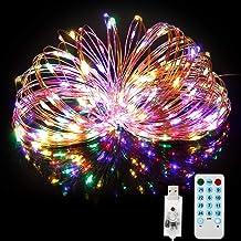 BITIWEND Lichtsnoer met USB-ledverlichting, meerkleurig, 20 m, 200 leds, met afstandsbediening, 4 muziekmodi, 8 scènemodi,...