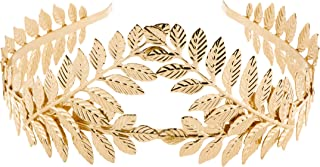 EAWIN Greek Goddess Leaf Headband Gold Costume Laural Wreath Roman for Women Party