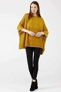 Truvakar Kol Salaş Model Kadın Triko Tunik - Hardal