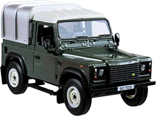 Negro con Dachgepa/äcktr/äger Welly Modelo Coche Miniatur 1:24 Land Rover Defender Blanco