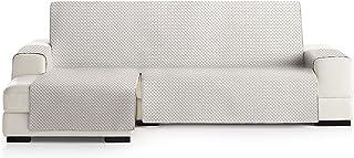 comprar comparacion JM Textil Cubre Chaise Longue Acolchado Elena, Brazo Izquierdo, Tamaño 240cm, Color Crudo 00
