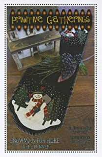 primitive gatherings snowman quilt