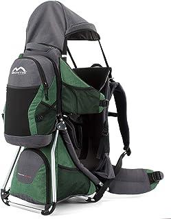 Montis Hoover Nexus Kraxe Kindertrage bis 25kg Kinder-Gewicht mit vielen Extras - Premiummodell - geringes Eigengewicht, passend für beide Elternteile, besserer Komfort mit Wirbelstütze