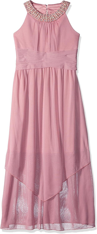 Amy Byer Girls' Big Full Length U-Neck Party Dress