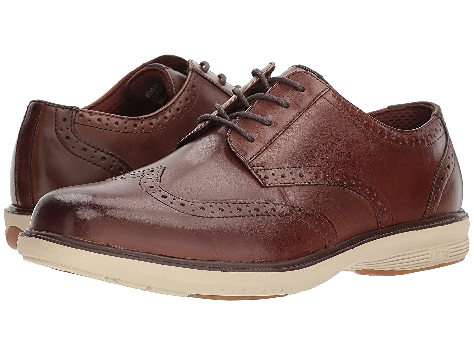 Nunn Bush Maclin Street Wing Tip Oxford with KORE Slip Resistant Walking Comfort Technology (Brown Multi) Men