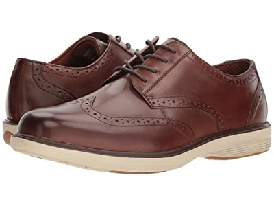 Nunn Bush Maclin Street Wing Tip Oxford with KORE Slip Resistant Walking Comfort Technology (Brown Multi) Men
