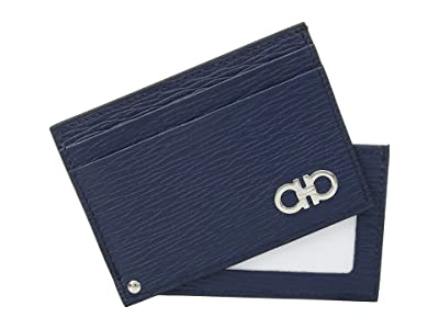 Salvatore Ferragamo Revival Gancio Sliding Card Case (Fjord Blue) Credit card Wallet