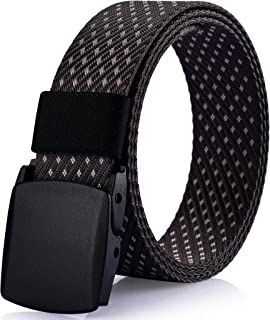 Ayli Men's Casual Nylon Webbed Belt, No Metal Parts, Quick Security Clearance