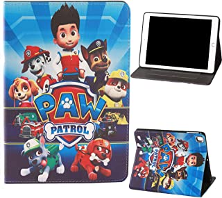 Cartoon Design Patterned Paw Patrol Smart iPad Case for iPad Mini 1 2 3 4 5 Pretty Cute Cartoon Flip Folio Smart Stand Case with [Auto Sleep/Wake] Protective PU Leather Cover for mini12345