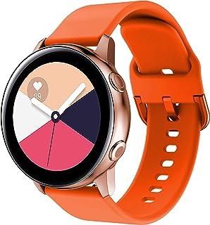 Compatible con Galaxy Watch Active/Active2 40mm 44mm Correa de Reloj 20mm Silicona Banda de Reemplazo Pulsera para Galaxy Watch 42mm/Gear Sport/Gear S2 Classic/Ticwatch 2