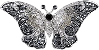 Alilang Empress Monarch Winged Butterfly Swarovski Crystal Rhinestone Brooch Pin