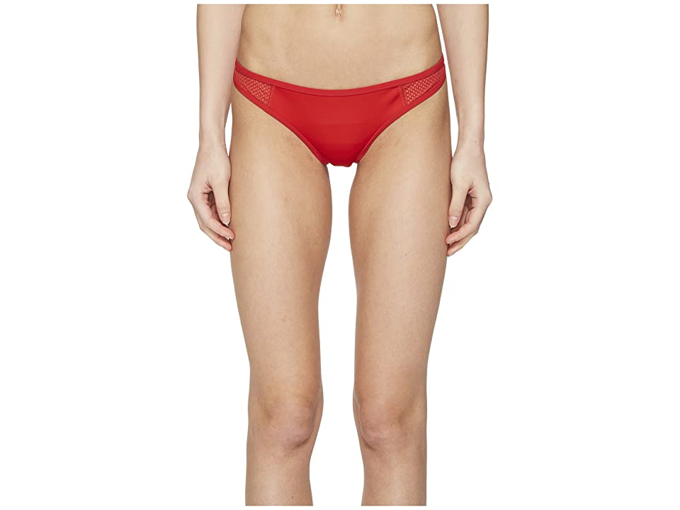 Stella McCartney Neoprene Mesh Classic Bikini Bottom (Salsa Red) Women