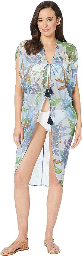 6a29e511f35d0 Echo Design. Floral Status Caftan Cover-Up. $59.00. Bora Bora Open Front  Caftan