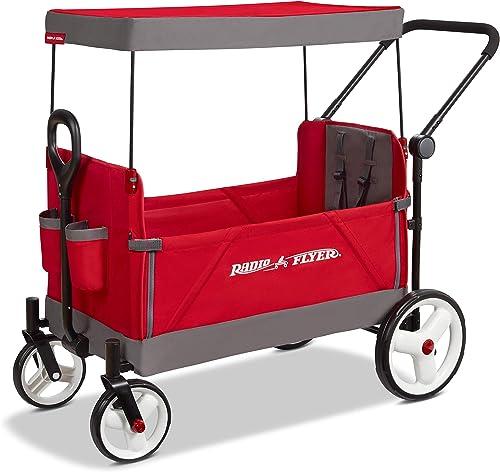 Radio Flyer Convertible Stroller Wagon, Red