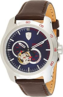 Ferrari Mens Quartz Watch, Chronograph Display and Leather Strap 830443