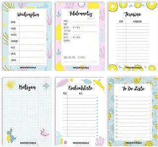 6 notesów na terminy, terminarz tygodniowy, połączenia telefoniczne, listy do zrobienia, listy zakupów i notatki – termina...
