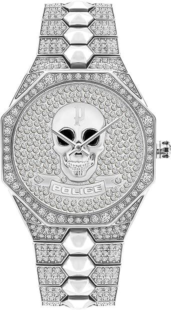 Police orologio analogico quarzo unisex adulto con cinturino in acciaio inox pl16027bs.04m