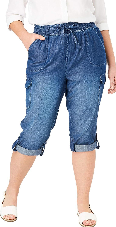Woman Within Women's Plus Size Convertible Length Cargo Capri Pant