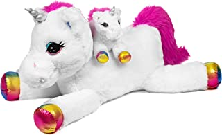 Stuffed Unicorn Plush Toy Mommy and Me Set by Nicole Jean