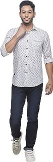Twills Slimfit Printed Casual Shirt for Men