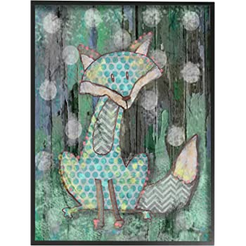 The Kids Room by Stupell Distressed Woodland Fox Wall Plaque 16 x 20 Stupell Industries brp-1464/_fr/_16x20