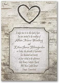100pk Woodsy Monogram - Invitation-Shop All Wedding