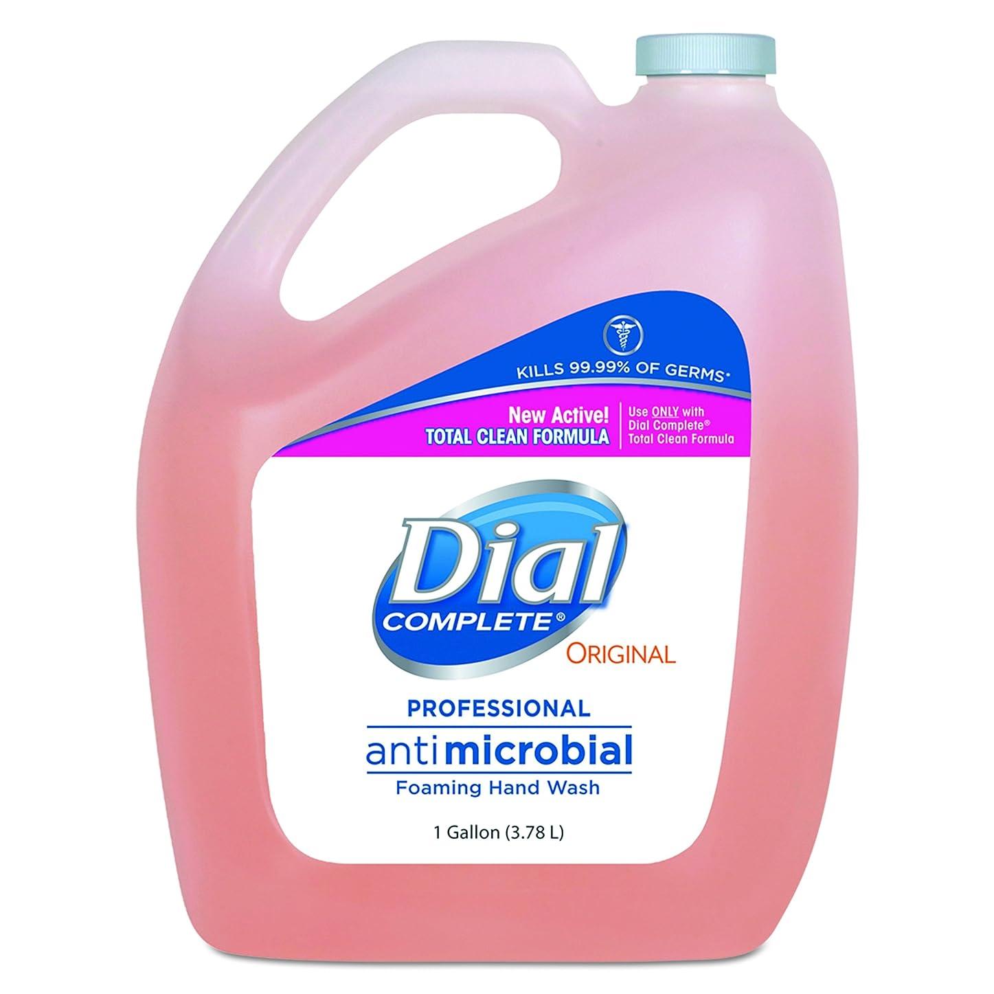 凝視エミュレートする形ダイヤルProfessional抗菌Foaming Hand Soap、元香り, 1?gal。、4?/カートン