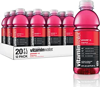 vitaminwater electrolyte enhanced water w/ vitamins, power-c dragonfruit, 20 fl. oz (Pack of 12)