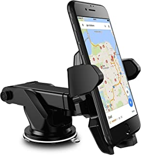 Nv Universal Car Mount, Adjustable Car Phone Holder Long, 360°Rotation with Reusable Suction Cup for Dashboard and Windshield for All Smartphone