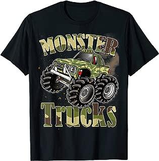Monster Trucks T Shirt Funny Camouflage Birthday Gift