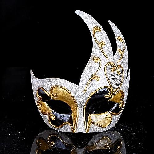 Maschera di modellazione della fiamma di Venezia crepa Maschera da donna  Maschera di carnevale di festa d039664c8017