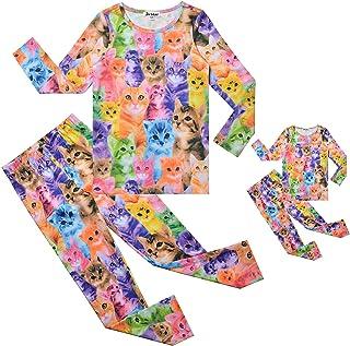 Matching Dolls & Girls Pajamas Unicorn Pjs Set Kids Cotton Sleepwear Pyjama