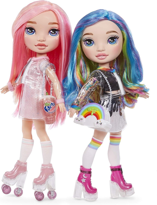 Rainbow Surprise 561095E7C Fashionpuppe mit Haaren, Zubehör und Schleim, 20 Überraschungen Rainbow Doll Or Pink Doll