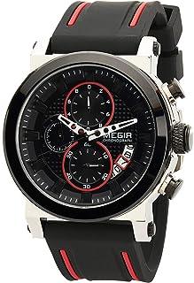 Megir Gents Wrist Watch, MN2100GS-BK-1A