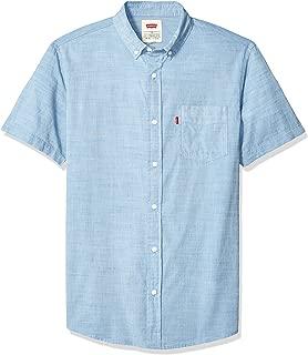 Levi's Men's Brato Short Sleeve, Classic Fit, Solid Woven Shirt