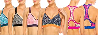 MoDDeals Woman's Racerback Sports Bra & Activewear Short Set 6 Pack… (34D, Sports Bra)