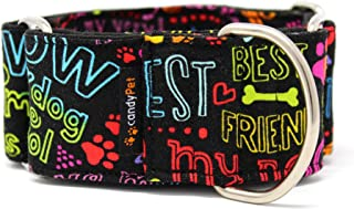 candyPet® Martingale Dog Collar - Best Friend Model, M