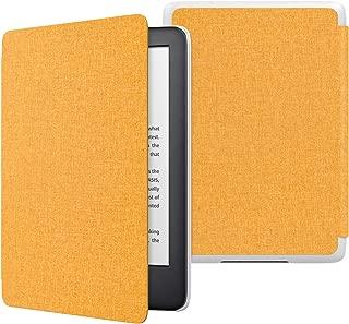ATiC NEW Kindle Newモデル ケース Kindle 第10世代 2019用 軽量 薄型 保護カバー 耐久性 耐衝撃 落下防止 オートスリープ機能付き 布紋黄色