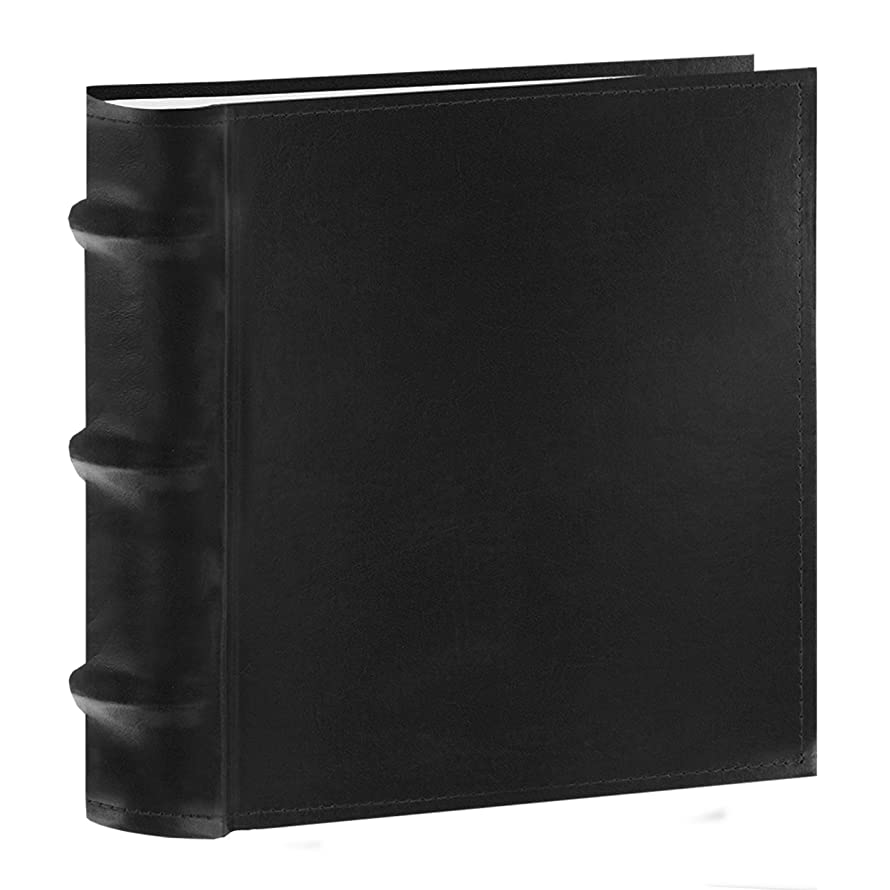 Pioneer Photo Albums 100-Pocket European Bonded Leather Photo Album for 4 by 6-Inch Prints, Black