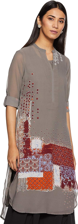 BIBA Women's Straight Polyester Tunic Top